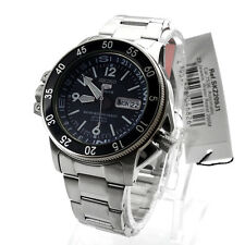 Seiko Analog Sport Mens 5 SPORTS  Silver JAPAN Watch SKZ209J1