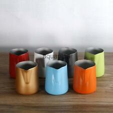 350ML Novelty Thick Kitchen Stainless Steel Frothing Milk Tea Latte Jug 7 Colors