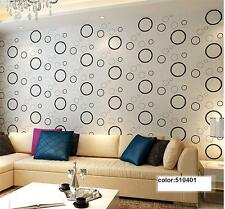 Modern Minimalist Circle Patterns Style PVC Wallpaper Roll 0.53m*10m=5.3㎡