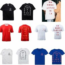 Kanye West No More Parties In LA I Feel like Pablo Men's White Red Blue T-Shirts