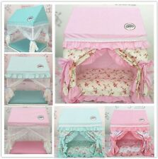 New Princess Handmade Curtain Pet Dog Cat Bed House Sofa Frame Bed Size S,M