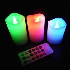 hot LED Remote Control Wax Candles Change Color Wedding Festival Scented Candles