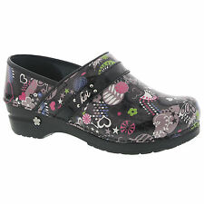 Koi by Sanita Womens Butterfly Park Clog (Printed Synthetic Leather) Nurse Shoe