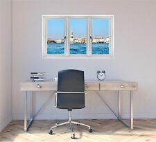 Window Landscape View VENICE ITALY SKYLINE DAY #2 Wall Sticker Art Decal Graphic