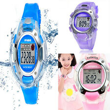 1pc Waterproof Quartz Sports Watch Casual Digital Wrist Watch For Child Girl Boy