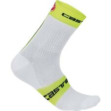Castelli Free 9 cm Autumn Cycling Socks for Men 4513040-132 - White/Yellow Fluo