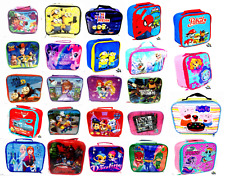 KIDS CHILDREN'S DISNEY PICNIC INSULATED LUNCH BAG BOYS GIRLS SANDWICH BOX SCHOOL