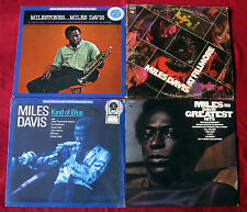 Miles Davis 4-LP LOT Kind Of Blue MILESTONES Greatest Hits AT FILLMORE
