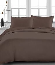 100% Organic Cotton Sheet Set/Duvet Set/Bed Skirt Chocolate Solid 1000TC For AU