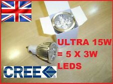 WARM/ COOL White 15W GU10 DIMMABLE CREE LED Light Bulb Spot Energy Saving 60w UK