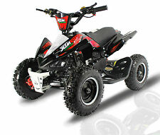 MONSTER MINI QUAD BIKE BLACK RED 50cc PETROL ENGINE/ CHILDS KIDS ATV MINI MOTO