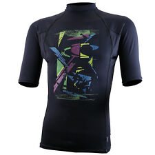 Skins Graphic Short Sleeve Rash Guard 8/8 Crew - Black