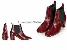 TopShop Mary 60's Patent Red Leather Chelsea Boots Shoes Colour Sizes UK EU USA