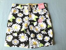 NWT GYMBOREE~Lady Daisy Cotton Black Floral Summer Bermuda Short-Girls 4 NEW