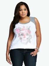 Alternative Floral Skull Plus Size Tee - Size 18 2XL - Punk Gothic Tshirt Top