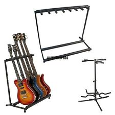 Folding 3/5/7 Acoustic Electric Bass Guitar Multi Instrument Stand Storage Rack