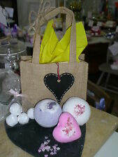 Lush-ious Handmade Glitter Bath Bomb Gift Sets with Reusable Pretty Hessian Bag