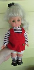 "VINTAGE FURGA ITALY DOLL 15"" TODDLER BABY BODY ROOTED HAIR blonde"