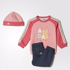 adidas pink/navy  infant/baby tracksuit. Jogging suit. Gift set. Sizes 3M - 4Y