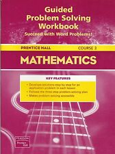 Prentice Hall Mathematics Guided Problem Solving Workbook Course 3 - FREE SHIP