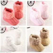 Lovely Infant Toddler Girls Soft Sole Knit Cotton Warm Casual Baby Boots Shoes