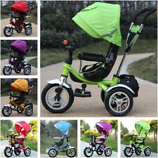 New Shock Absorption Baby Toddler Stroller Tricycle With 3 Wheels Swivel Seat