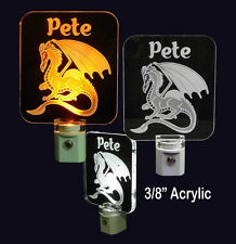 Personalized Dragon LED Night Light - Lamp