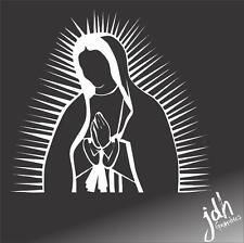 Virgin Mary Vinyl Decal Car Sticker Christian Bible Catholic Rosary Latin