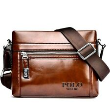 GENUINE LEATHER Cowhide Shoulder Leisure Men's Bag Business Messenger POLO Bag