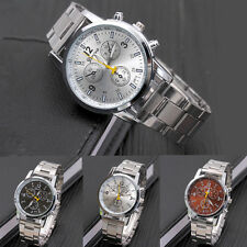 Mens Watch Small Dial Strap Date Stainless Steel Band Military Wrist Watch