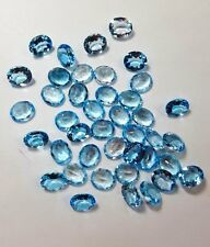 Natural Sky Blue Topaz Calibrated Size Oval Cut Top Quality Loose Gemstone Lot