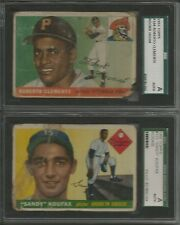 1955 Topps Baseball Card set/lot 114/206 Koufax 123 & Clemente 164 RC 23 High #s