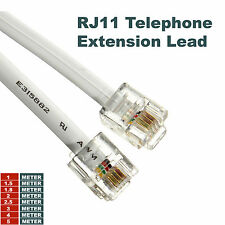 1M 2M 3M RJ11 4 Pin Broadband cable Internet Router Lead ADSL Telephone Modem