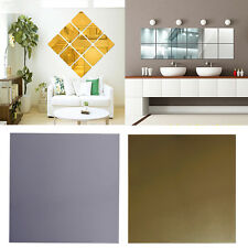 1Pc 3D Mirror Square Vinyl Removable Sticker Wall Decal Home Decor Art DIY