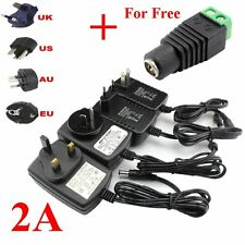 DC 12V 2A AC Adapter Power Supply Adapter Transformer for 3528 LED Strip Light