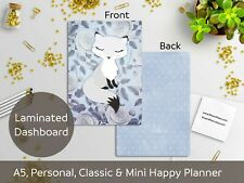 Foxy - Laminated Dashboard - Happy Planner, Filofax A5 or Personal size