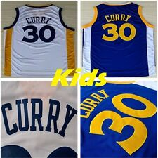 Kids Stephen Curry Jersey Youth Warriors Basketball Throwback Stiched Blue White