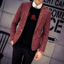 2016 Hot Korean Stylish Men's Woolen One Button Casual Coats Stage Show Jackets
