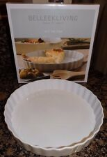 "BELLEEK LIVING OVEN TO TABLEWARE 10.5"" PIE DISH QUICHE"