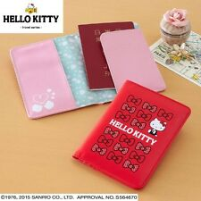 Hello Kitty Travel Passport Cover Holder Case Wallet Pouch Purse Japan e2355