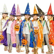 Halloween Cloak Witch Dress Vampire Witch Hat and Cape Kids Children Cosplay