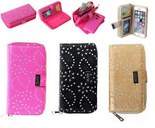 Removable Zipper Magnetic Leather Wallet Card Slot Case Cover For iPhone/Samsung