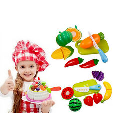 Lifelike Fruit Vegetable Food Cutting Toys  Set Pretend Kitchen Fruit Role Play