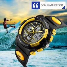 Rubber Military Waterproof Date digital Analog Army Men's Quartz Wrist Watches