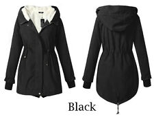 NEW  Womens Winter Warm Outwear Coat Hooded Thick Coat Jacket Cotton Blend
