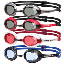 SPEEDO MERIT ADULT COMPETITION SWIMMING GOGGLES WITH ANTI-FOG & UV
