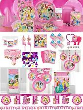 Disney Princess & Animals Girls Sparkle Birthday Party Plates Napkins Loot Bags