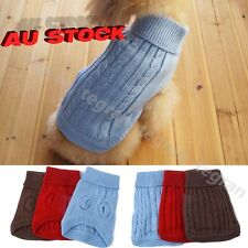 Cute Pet Dog Warm Clothes Coat Apparel Jumper Sweater Puppy Cat Knitwear Costume