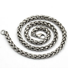 Unique Delicate MENS Silver Stainless Steel Spend orchid type Chain Necklace New
