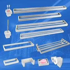 Bath Accessories Set Silver Chrome SS304 Towel Ring Rack Rail Toilet Brushes NEW